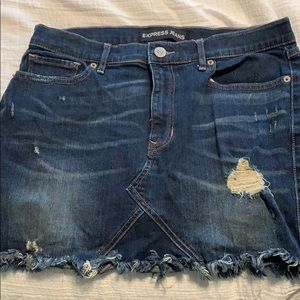 Express Mini denim skirt size 10